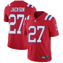 Men's New England Patriots #27 J.C. Jackson Limited Vapor Untouchable Alternate Red Jersey