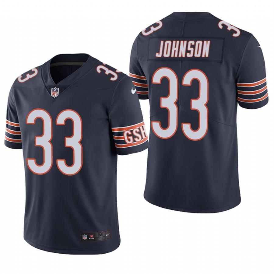 Men's Chicago Bears #33 Jaylon Johnson Navy Color Rush Limited 2020 NFL Draft Jersey