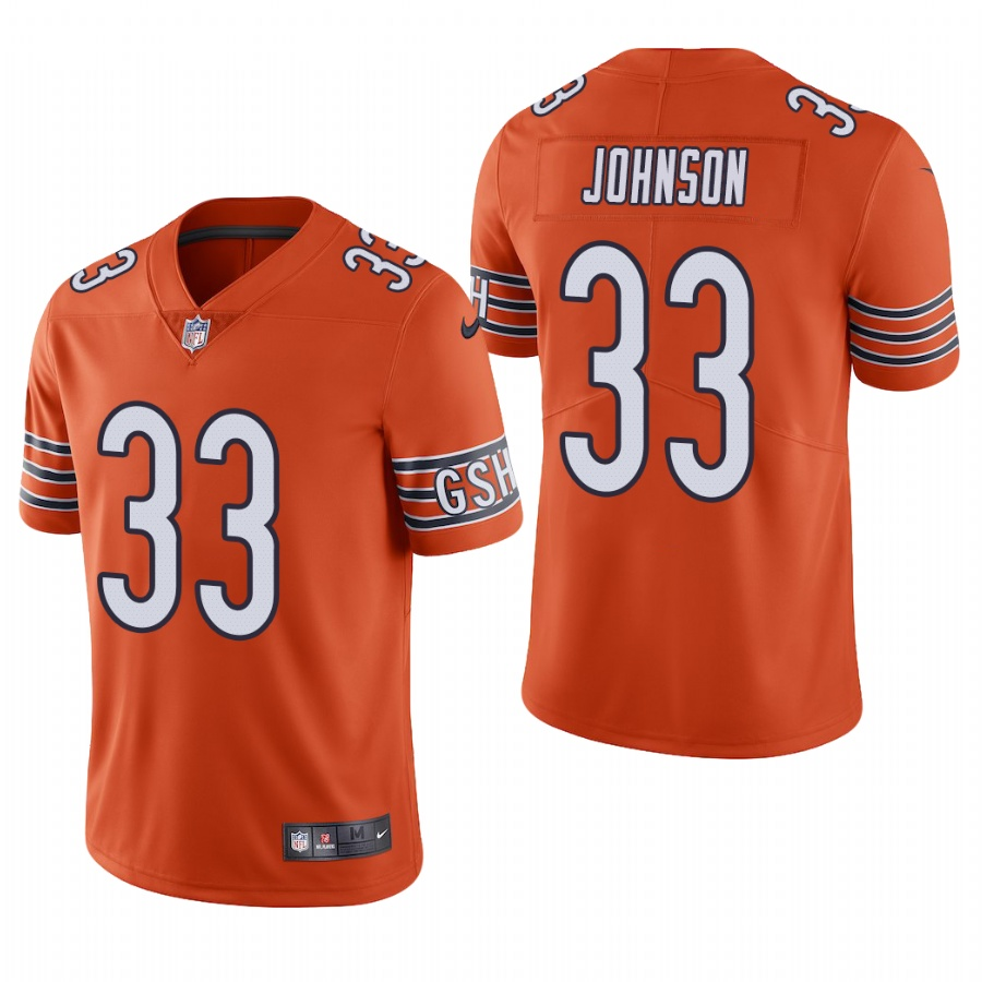 Men's Chicago Bears #33 Jaylon Johnson Orange Vapor Limited 2020 NFL Draft Jersey