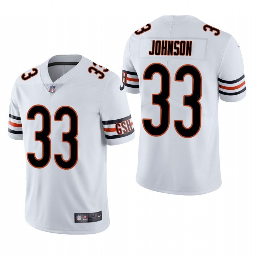 Men's Chicago Bears #33 Jaylon Johnson White Vapor Limited Throwback 2020 NFL Draft Jersey