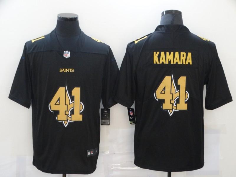 Men's New Orleans Saints #41 Alvin Kamara Black 2020 Shadow Logo Vapor Untouchable Stitched NFL Nike Limited Jersey