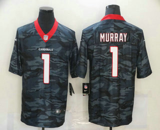Men's Arizona Cardinals #1 Kyler Murray 2020 Camo Limited Stitched Nike NFL Jersey