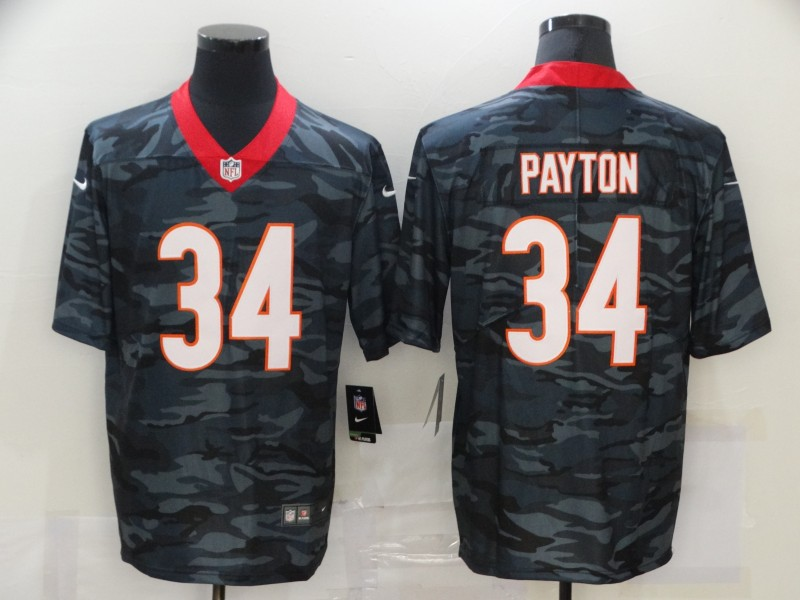 Men's Chicago Bears #34 Walter Payton 2020 Camo Limited Stitched Nike NFL Jersey
