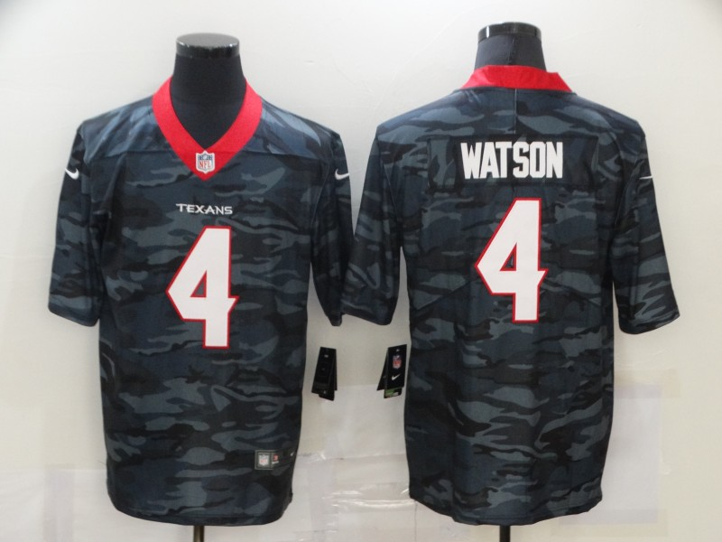 Men's Houston Texans #4 Deshaun Watson 2020 Camo Limited Stitched Nike NFL Jersey