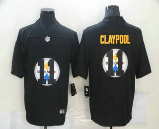 Men's Pittsburgh Steelers #11 Chase Claypool Black 2020 Shadow Logo Vapor Untouchable Stitched NFL Nike Limited Jersey