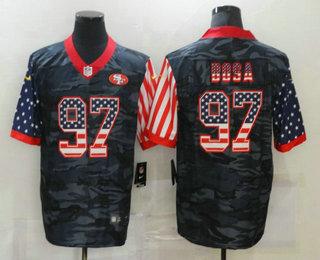 Men's San Francisco 49ers #97 Nick Bosa USA Camo 2020 Salute To Service Stitched NFL Nike Limited Jersey