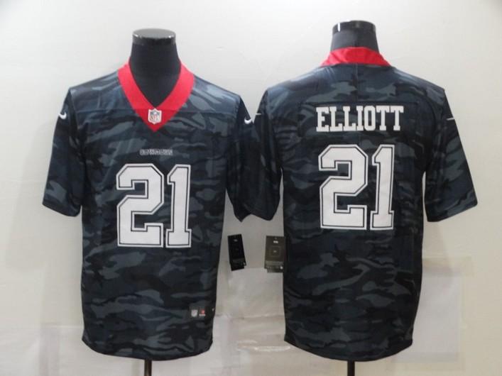Men's Dallas Cowboys #21 Ezekiel Elliott 2020 Camo Limited Stitched Nike NFL Jersey