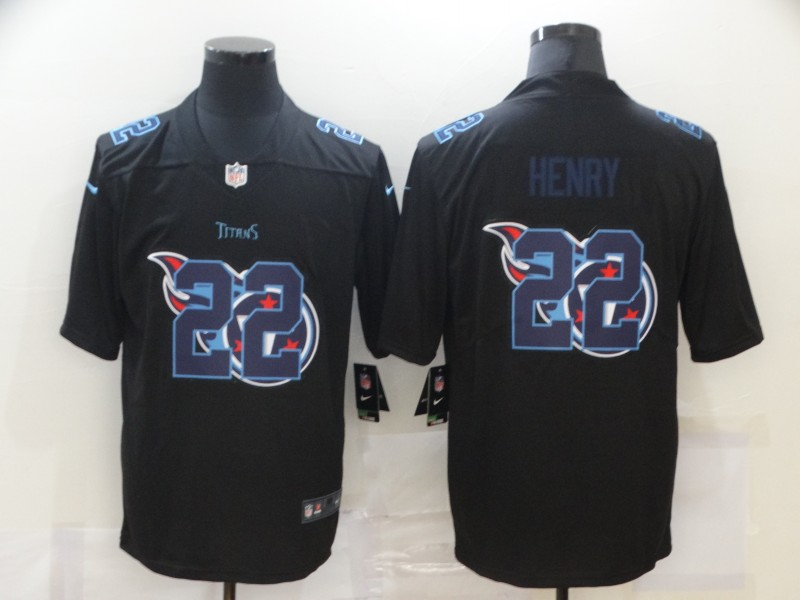Men's Tennessee Titans #22 Derrick Henry Black 2020 Shadow Logo Vapor Untouchable Stitched NFL Nike Limited Jersey