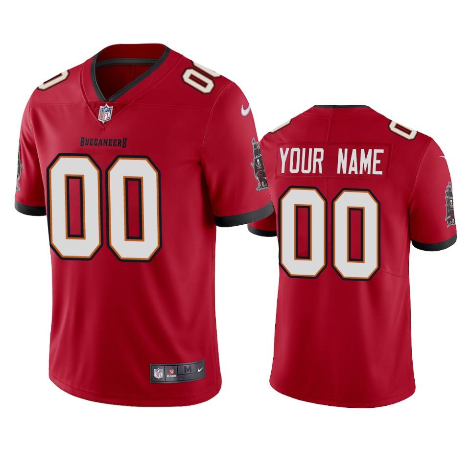 Men's Tampa Bay Buccaneers Custom Red 2020 Vapor Limited Nike Jersey