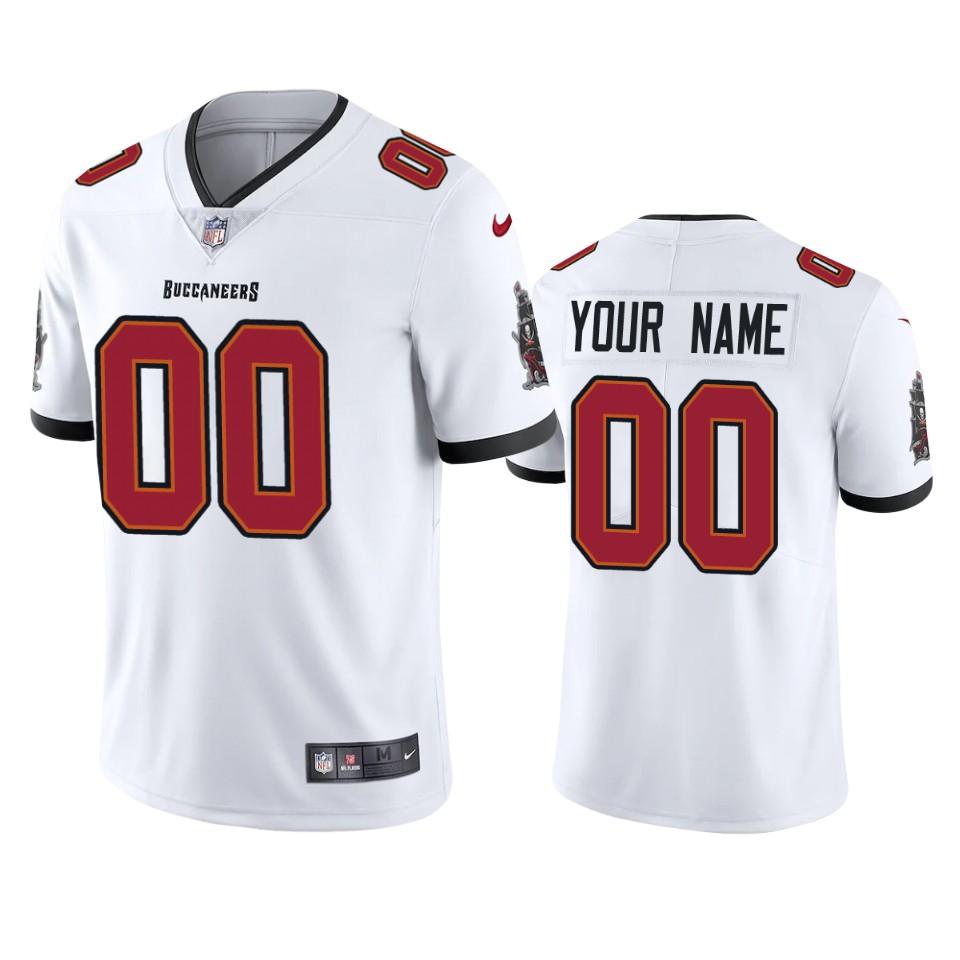 Men's Tampa Bay Buccaneers Custom White 2020 Vapor Limited Nike Jerseys