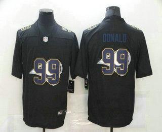 Men's Los Angeles Rams #99 Aaron Donald Black 2020 Shadow Logo Vapor Untouchable Stitched NFL Nike Limited Jersey