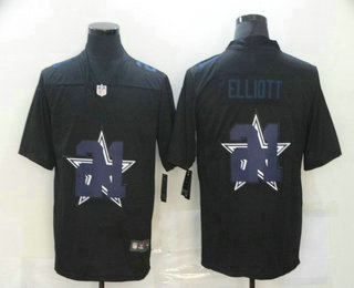 Men's Dallas Cowboys #21 Ezekiel Elliott Black 2020 Shadow Logo Vapor Untouchable Stitched NFL Nike Limited Jersey