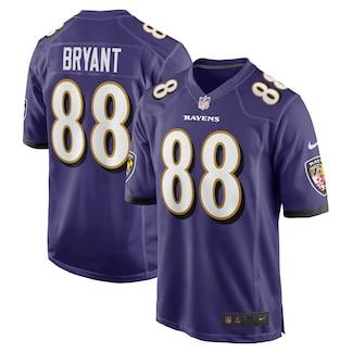 Men's Baltimore Ravens #88 Dez Bryant Nike Purple Game Jersey