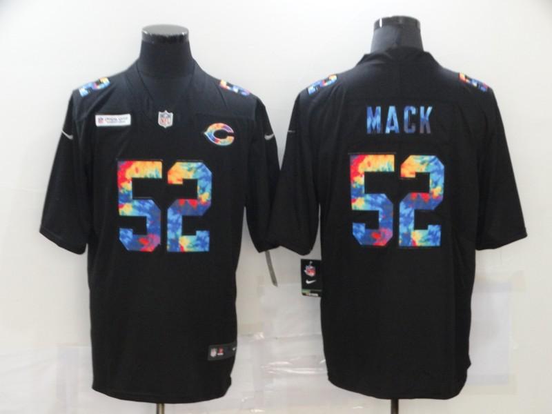 Men's Chicago Bears #52 Khalil Mack Multi-Color Black 2020 NFL Crucial Catch Vapor Untouchable Nike Limited Jersey