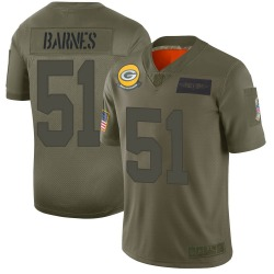 Men's Green Bay Packers #51 Krys Barnes Limited Camo 2019 Salute to Service Jersey