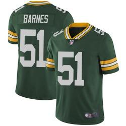 Men's Green Bay Packers #51 Krys Barnes Limited Green Team Color Vapor Untouchable Jersey