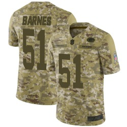 Men's Green Bay Packers #51 Krys Barnes Limited Camo 2018 Salute to Service Jersey