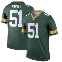 Men's Green Bay Packers #51 Krys Barnes Legend Green Jersey
