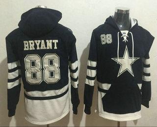 Men's Dallas Cowboys #88 Dez Bryant 2016 Navy Blue Team Color Stitched NFL Hoodie
