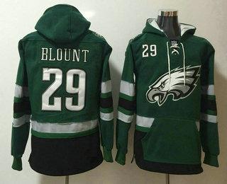 Men's Philadelphia Eagles #29 LeGarrette Blount NEW Midnight Green Pocket Stitched NFL Pullover Hoodie