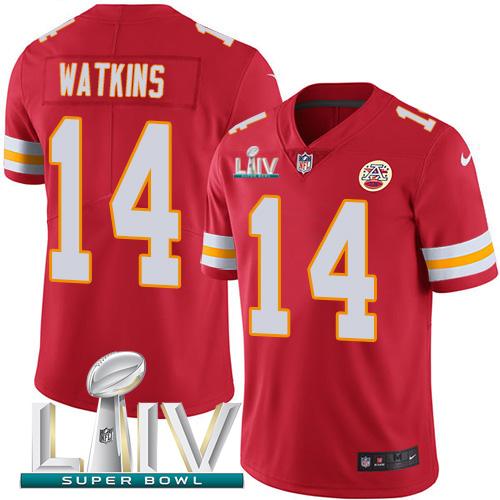 Nike Chiefs #14 Sammy Watkins Red Super Bowl LIV 2020 Team Color Men's Stitched NFL Vapor Untouchable Limited Jersey