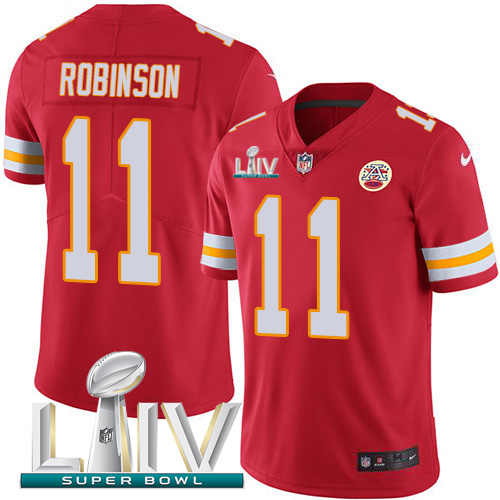 Nike Chiefs #11 Demarcus Robinson Red Super Bowl LIV 2020 Team Color Men's Stitched NFL Vapor Untouchable Limited Jersey