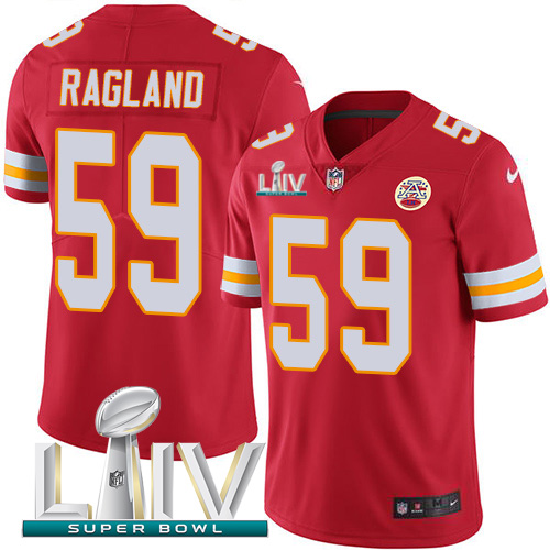 Nike Chiefs #59 Reggie Ragland Red Super Bowl LIV 2020 Team Color Men's Stitched NFL Vapor Untouchable Limited Jersey