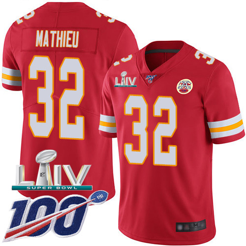 Nike Chiefs #32 Tyrann Mathieu Red Super Bowl LIV 2020 Team Color Men's Stitched NFL 100th Season Vapor Untouchable Limited Jersey