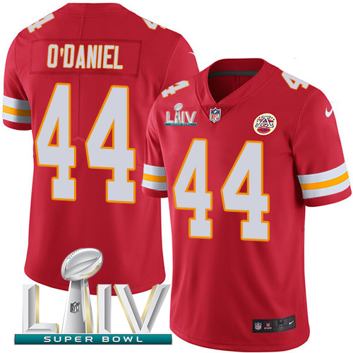 Nike Chiefs #44 Dorian O'Daniel Red Super Bowl LIV 2020 Team Color Men's Stitched NFL Vapor Untouchable Limited Jersey