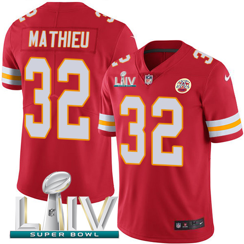 Nike Chiefs #32 Tyrann Mathieu Red Super Bowl LIV 2020 Team Color Men's Stitched NFL Vapor Untouchable Limited Jersey