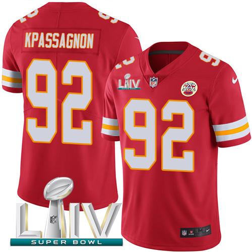 Nike Chiefs #92 Tanoh Kpassagnon Red Super Bowl LIV 2020 Team Color Men's Stitched NFL Vapor Untouchable Limited Jersey