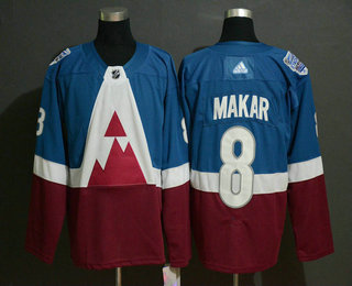 Men's Colorado Avalanche #8 Cale Makar Blue 2020 Stadium Series Adidas Stitched NHL Jersey