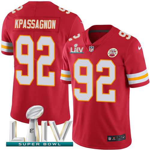 Nike Chiefs #92 Tanoh Kpassagnon Red Super Bowl LIV 2020 Team Color Youth Stitched NFL Vapor Untouchable Limited Jersey