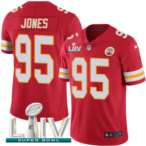 Nike Chiefs #95 Chris Jones Red Super Bowl LIV 2020 Team Color Youth Stitched NFL Vapor Untouchable Limited Jersey