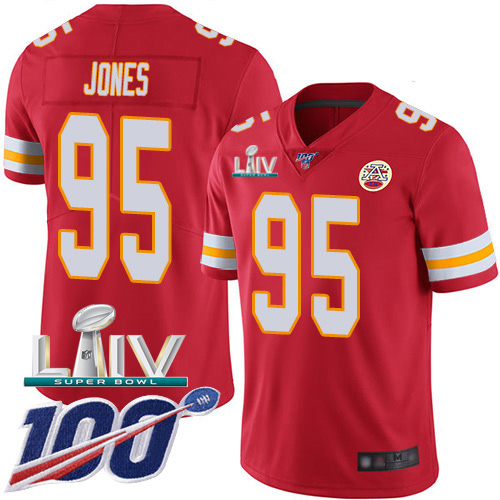 Nike Chiefs #95 Chris Jones Red Super Bowl LIV 2020 Team Color Youth Stitched NFL 100th Season Vapor Untouchable Limited Jersey