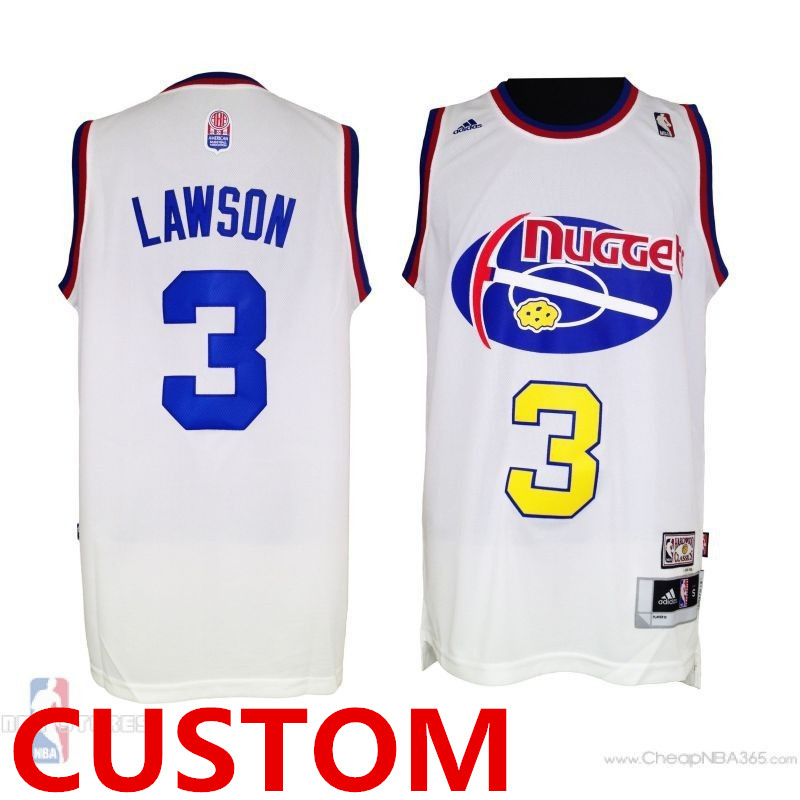 Men's Custom Nuggets ABA Hardwood Classic Swingman White Jersey