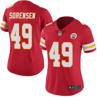 Women's Kansas City Chiefs #49 Daniel Sorensen Team Color Vapor Untouchable Jersey - Limited Red