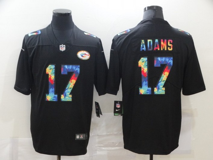 Men's Green Bay Packers #17 Davante Adams Multi-Color Black 2020 NFL Crucial Catch Vapor Untouchable Nike Limited Jersey