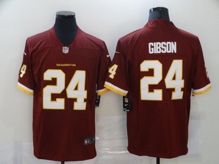 Men's Washington Redskins #24 Antonio Gibson Burgundy Red NEW 2020 Vapor Untouchable Stitched NFL Nike Limited Jersey
