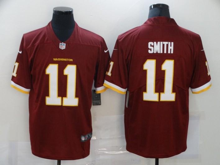 Men's Washington Redskins #11 Alex Smith Burgundy Red NEW 2020 Vapor Untouchable Stitched NFL Nike Limited Jersey