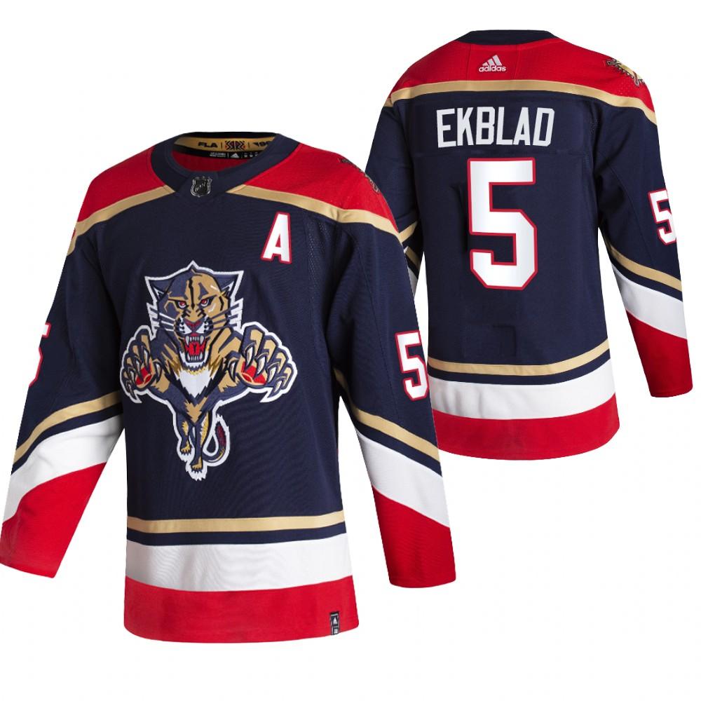 Florida Panthers #5 Aaron Ekblad Black Men's Adidas 2020-21 Reverse Retro Alternate NHL Jersey