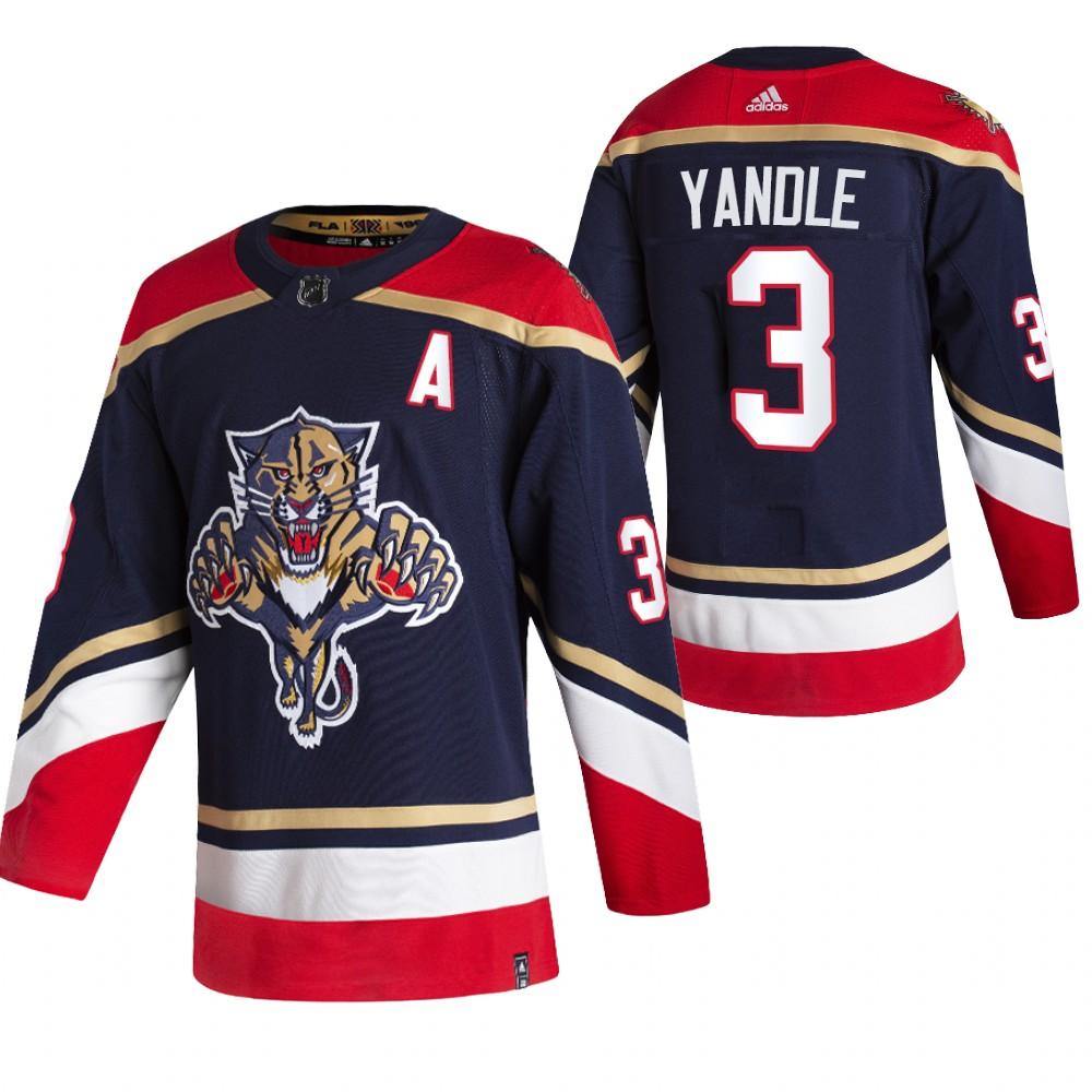 Florida Panthers #3 Keith Yandle Black Men's Adidas 2020-21 Reverse Retro Alternate NHL Jersey