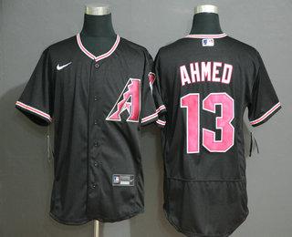 Men's Arizona Diamondback #13 Nick Ahmed Black Stitched Nike MLB Flex Base Jersey