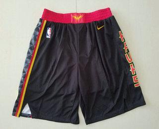 Men's Atlanta Hawks Black 2019 Nike Swingman Stitched NBA Shorts