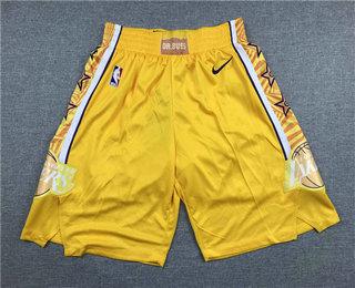 Men's Los Angeles Lakers Yellow 2020 Nike City Edition Swingman Shorts