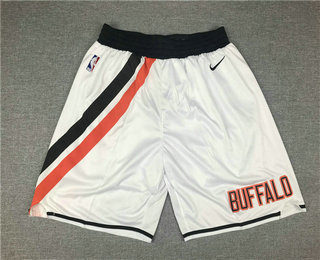 Men's Los Angeles Clippers White Nike 2019 Swingman Throwback Shorts