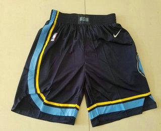 Men's Memphis Grizzlies Black 2019 Nike Swingman Stitched NBA Shorts