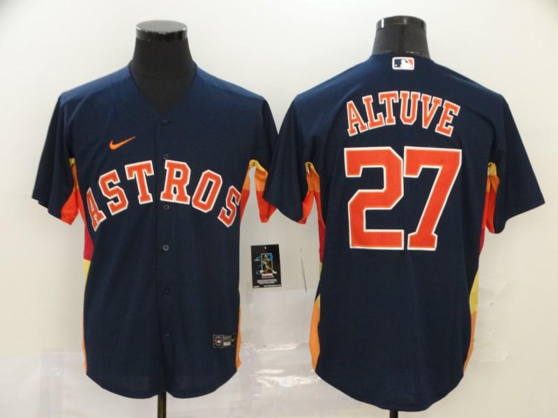 Men's Houston Astros #27 Jose Altuve Navy Blue Stitched MLB Cool Base Nike Jersey