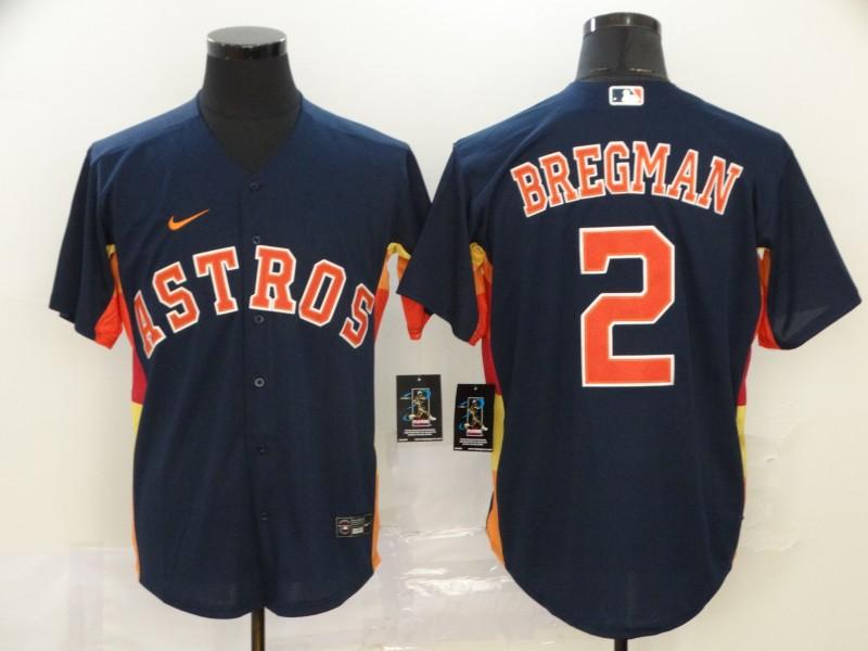 Men's Houston Astros #2 Alex Bregman Navy Blue Stitched MLB Cool Base Nike Jersey