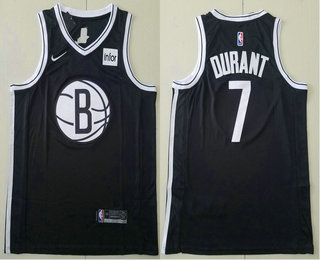 Men's Brooklyn Nets #7 Kevin Durant Black 2019 NEW Nike Swingman Stitched NBA Jersey With The Sponsor Logo